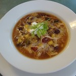Black Bean Soup with Chicken and Salsa