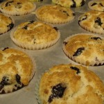 Low-fat Blueberry Muffins with Crumb Topping
