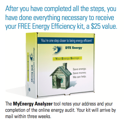 Dte energy free energy efficiency kit by mail 25 value for Energy efficiency kit