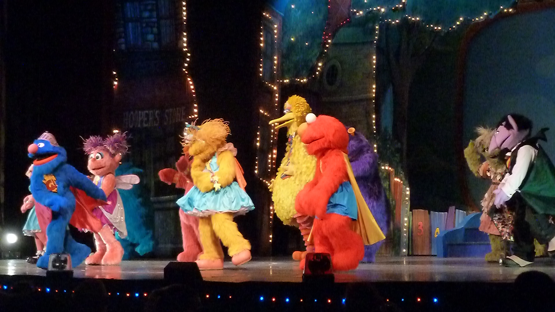 Review sesame street live and a coupon code bargains to bounty sesame street live elmos super heroes included all of our favorite characters grover elmo telly zoe abby cadabby bert ernie big bird rosita m4hsunfo