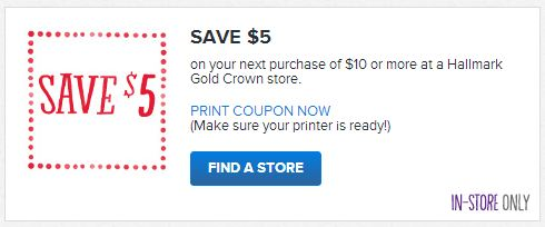 image regarding Hallmark Coupon Printable named Hallmark Shops: Help you save $5 upon a $10 or further more get with