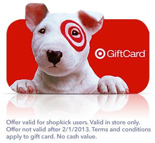 shopkick free $2 target gift card