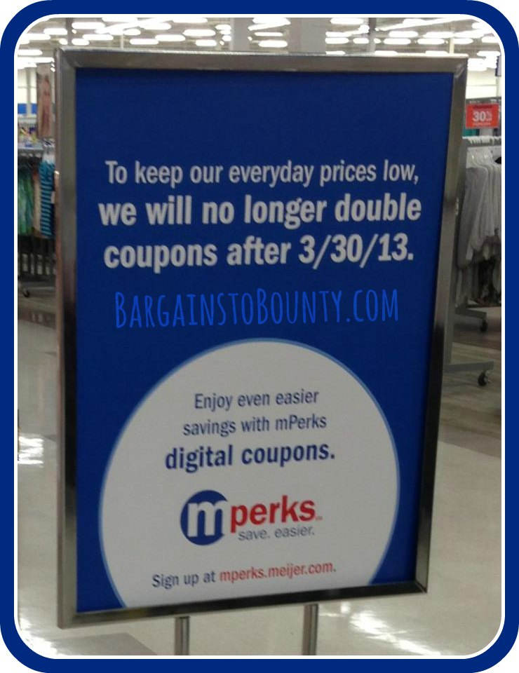 Meijer No Double Coupons