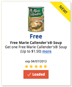free marie callender's soup