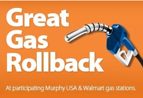 Walmart Gas Rollback Save 0 10 Per Gallon With Gift Card
