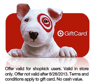 free $2 Target gift card
