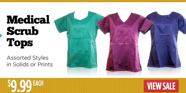 $9.99 medical scrub tops