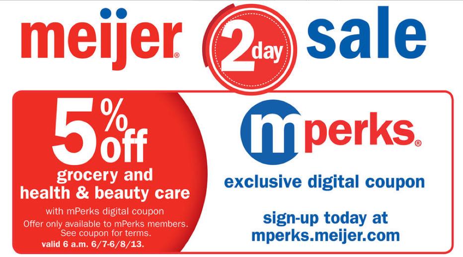 Meijer 2 Day Sale: June 7-8, 2013 • Bargains to Bounty
