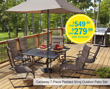 Meijer Callaway Piece Patio Set On Clearance Bargains To Bounty