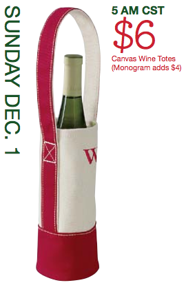 Lands End Doorbusters 6 Canvas Wine Tote 8 Ruched