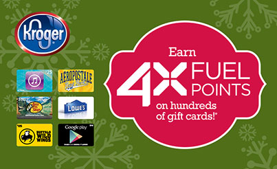 gift cards available kroger kroger fuel rewards earn 4x the points with gift card 10862