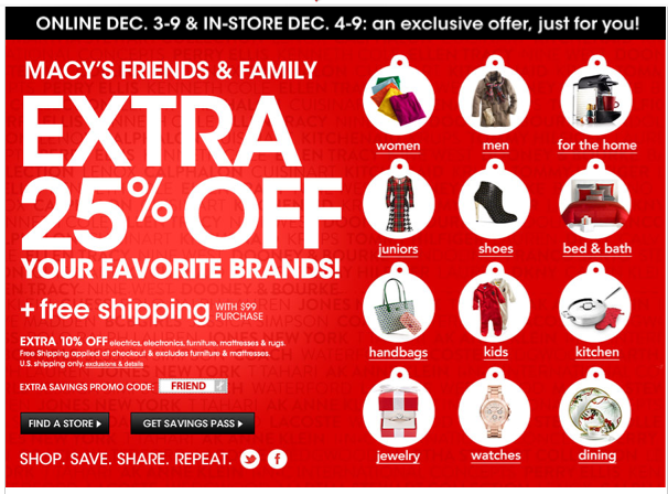 3512e2535 Macy's Coupon Code: Extra 25% off everything = HOT North Face Deals ...