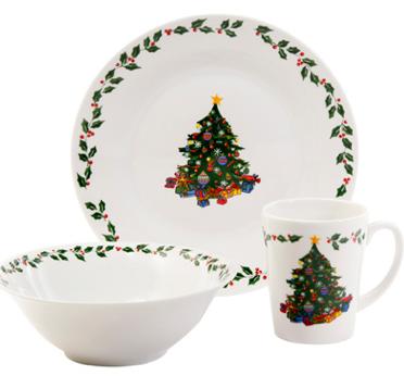 gibson christmas dinnerware set  sc 1 st  Bargains to Bounty & $9.97 Gibson Christmas Dinnerware Set (12 pieces Joyous Gathering ...