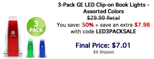 GE LED Book Lights