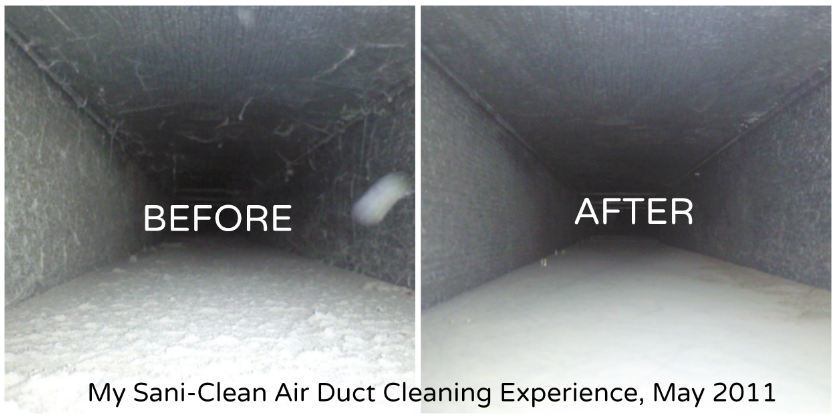 sani-clean air duct cleaning before after