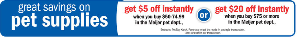 meijer pet food deal