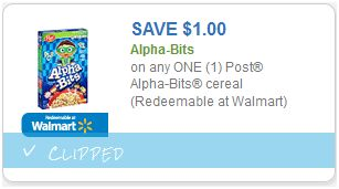 image relating to Meijer Printable Coupons referred to as Meijer: $1.00 Posting Alpha Bits with Contemporary Printable Coupon