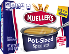 mueller's pot sized spaghetti