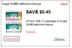 picture relating to Angel Soft Printable Coupon titled Refreshing: $0.45/1 Angel Delicate Bathtub Tissue printable coupon