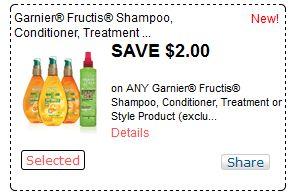 photo regarding Garnier Fructis Printable Coupon called $2.00 off 1 Garnier Fructis coupon \u003d $0.50 at Meijer