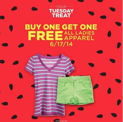 Sears Outlet Coupon B1G1 Womens Apparel O Bargains To Bounty