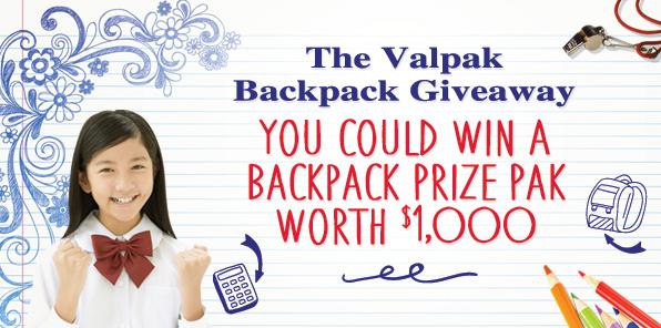 valpak backpack giveaway