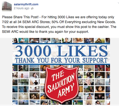 Salvation Army: 50% off everything at SE Michigan stores ...