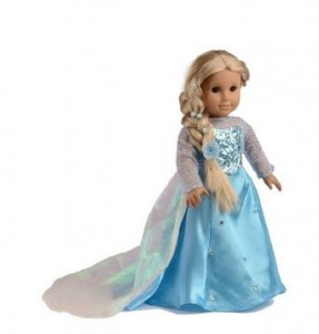 """Crown Frozen ANNA and ELSA Dresses 18/"""" Doll Clothes Princess for AMERICAN GIRL"""