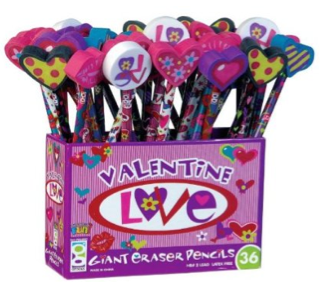 valentine love pencils