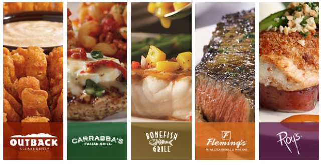 Bloomin Brands Rewards Save At Outback Carrabbas Bonefish Grill