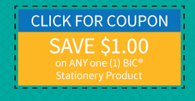 graphic regarding Bic Printable Coupons referred to as $1.00/1 BIC Stationery coupon \u003d Free of charge Pens, Pencils + extra