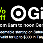 target gift card discount