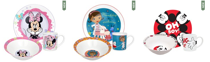 disney dinnerware sets  sc 1 st  Bargains to Bounty & $5.97 Disney Porcelain Dinnerware Sets (Frozen Doc McStuffins ...