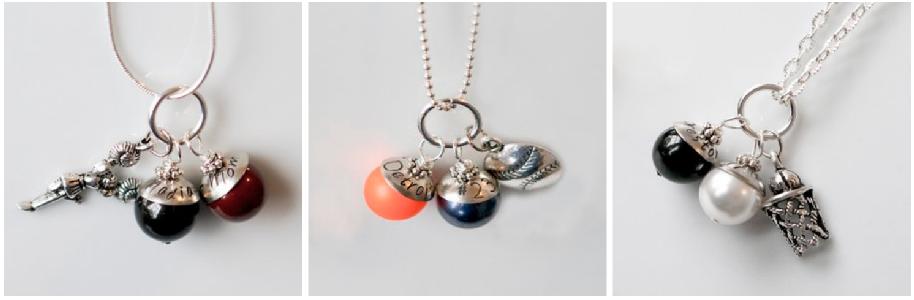 sports dots necklaces