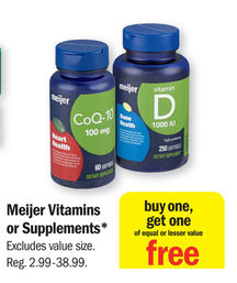 Low cost vitamins and supplements