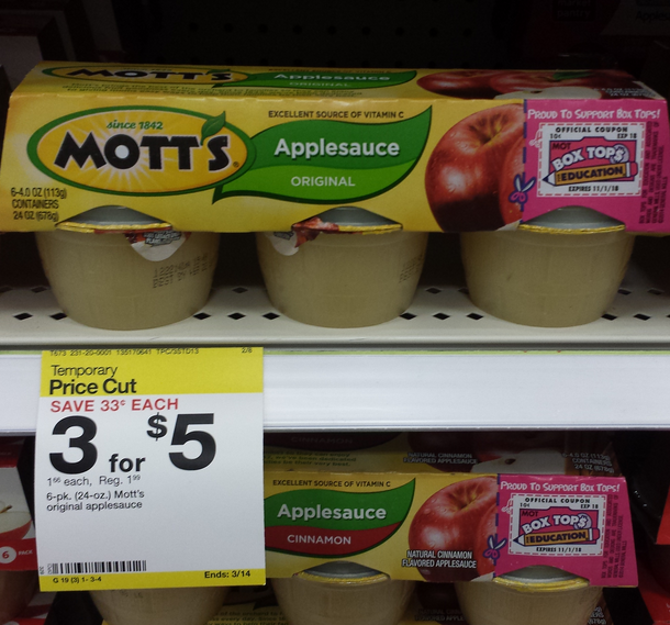 mott's applesauce target