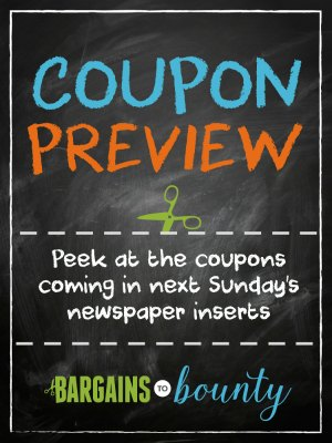 Coupon Preview: Sunday, January 22, 2017 • Bargains to Bounty