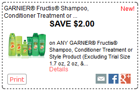 photo regarding Garnier Printable Coupon referred to as $2.00/1 Garnier Fructis Hair Substance Printable Coupon ($0.50