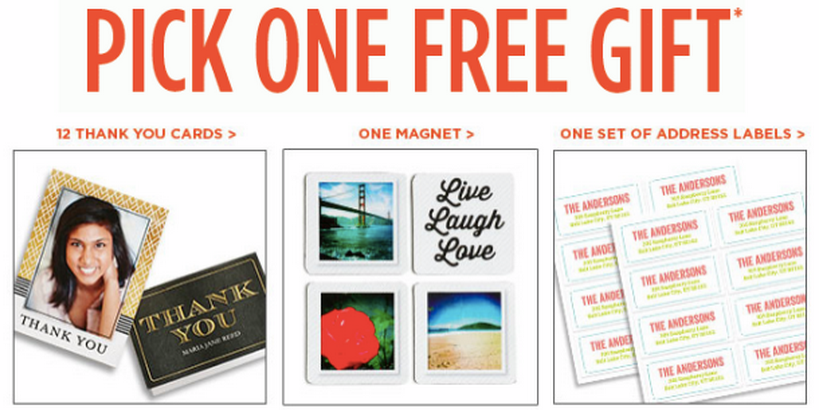 Shutterfly Free Magnet 12 Thank You Cards Or Address Labels