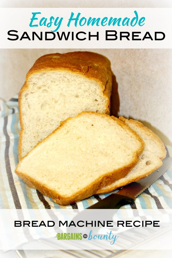 easy homemade sandwich bread machine