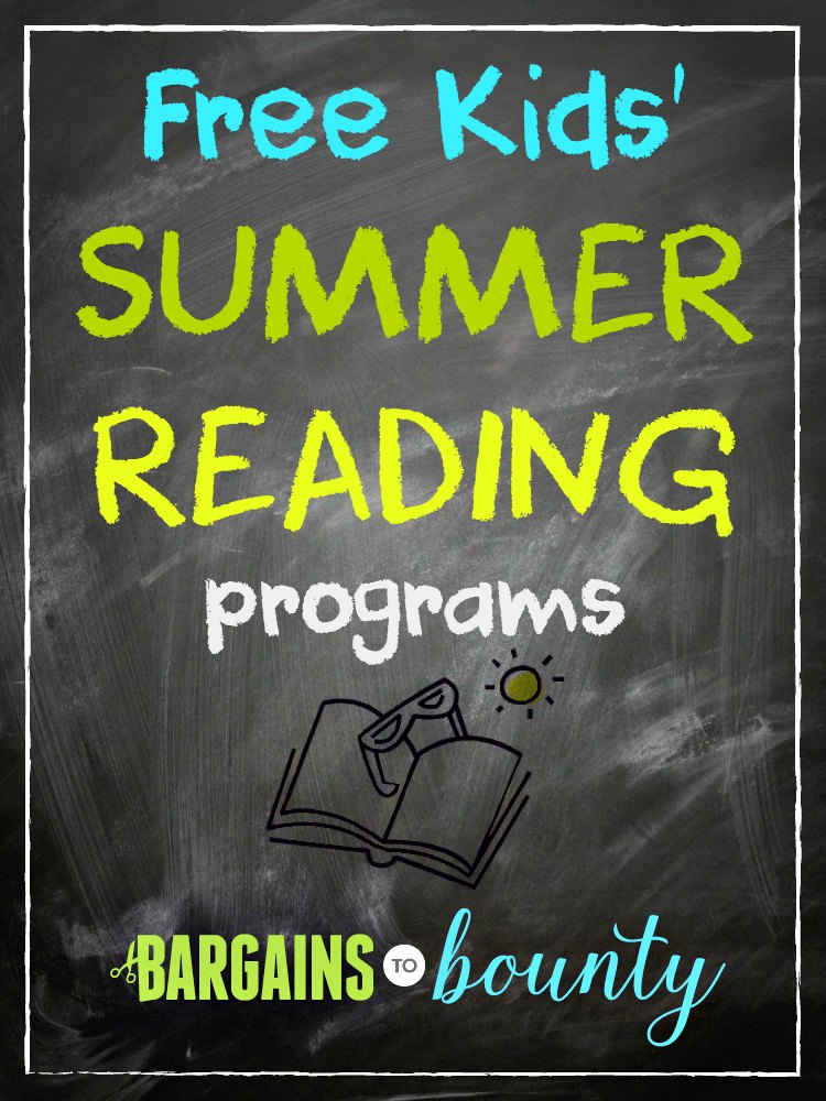 2018 Free Summer Reading Programs For Kids Bargains To Bounty