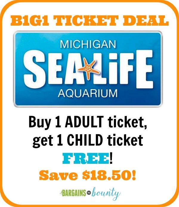 michigan sea life aquarium ticket deal