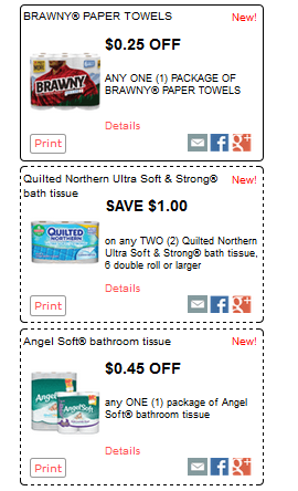 New Quilted Northern Brawny And Angel Soft Coupons 0 55 Toilet