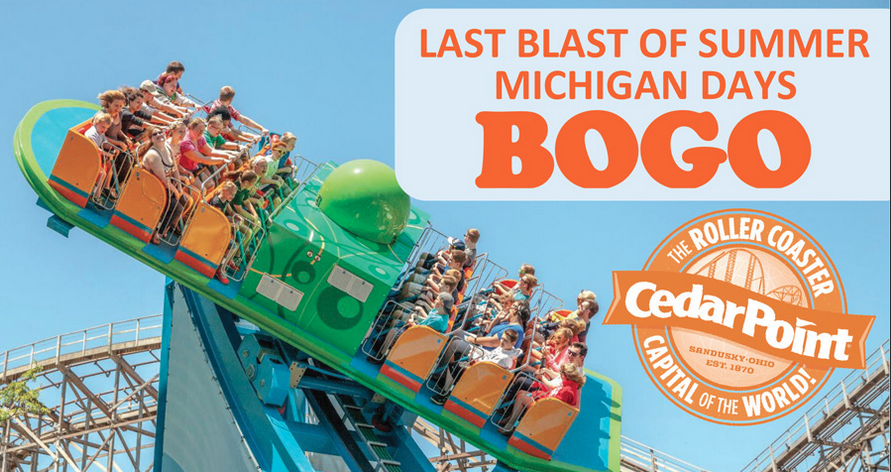 Cedar Point's BOGO for Michiganders starts today. Residents can get one free admission for each one purchased to the amusement park.