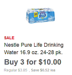 Nestle Pure Life Water 28 packs ONLY $2 09 Each at Meijer