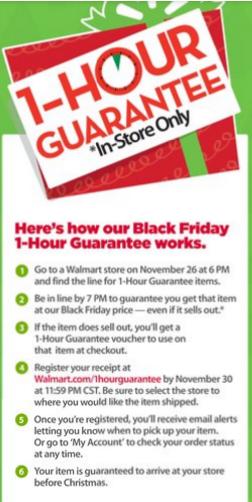 walmart 1 hour guarantee