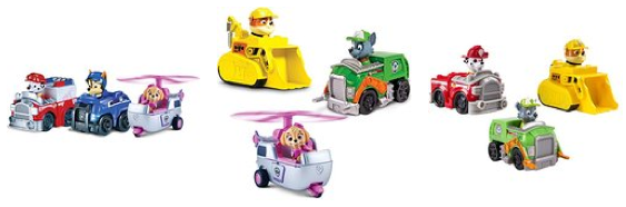 paw patrol rescue racers set of 3