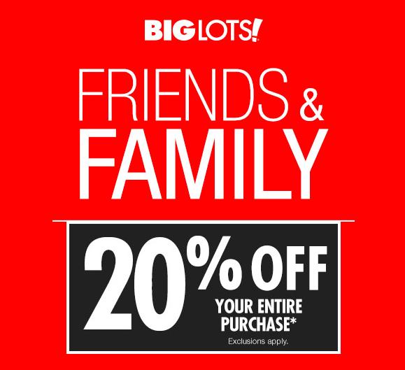 Big Lots coupon: Save 20% your entire order (April 1 2) • Bargains