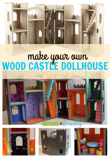 make your own wood castle dollhouse
