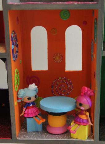 wood castle dollhouse